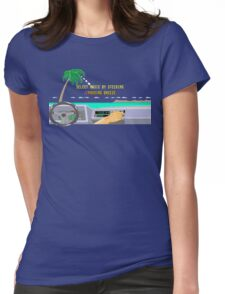 OUT RUN RADIO Womens Fitted T-Shirt