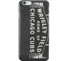 Wrigley Field Sign  iPhone Case/Skin
