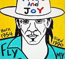 Stevie Ray Vaughan Blues Folk Art by krusefolkart