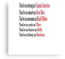 Motivation Superhero Canvas Print