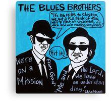 Blues Brothers Blues Folk Art Canvas Print
