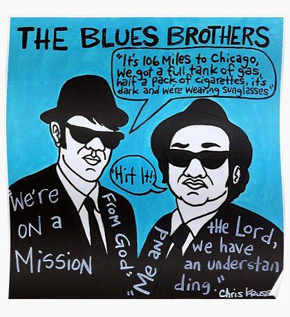 Blues Brothers Blues Folk Art Poster