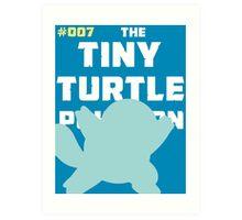 Squirtle: The Tiny Turtle Pokemon Art Print