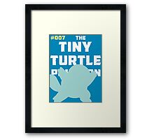Squirtle: The Tiny Turtle Pokemon Framed Print