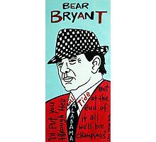 Bear Bryant Alabama Football Folk Art Photographic Print