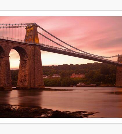 Menai Bridge Dawn Sticker
