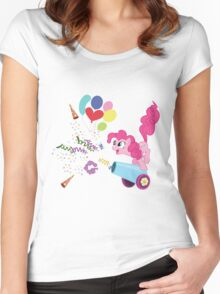 Pinkie Pie Cannon! Women's Fitted Scoop T-Shirt