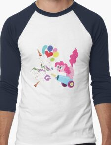 Pinkie Pie Cannon! Men's Baseball ¾ T-Shirt