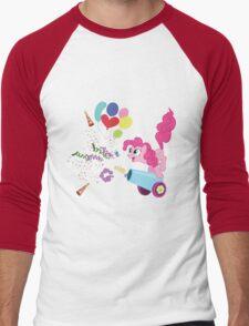Pinkie Pie Cannon! Men's Baseball ¾ T-Shirt