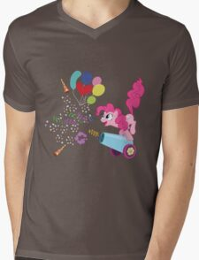 Pinkie Pie Cannon! Mens V-Neck T-Shirt