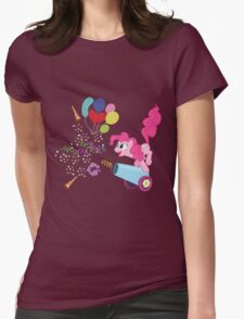 Pinkie Pie Cannon! Womens Fitted T-Shirt