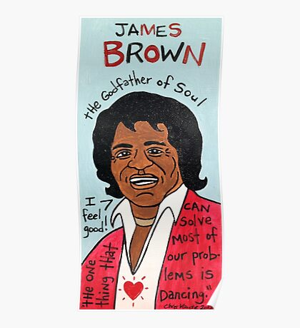 James Brown Soul Folk Art Poster