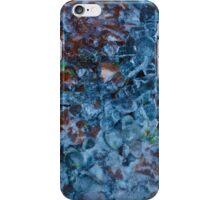 Frozen water on pebbles iPhone Case/Skin