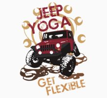 Jeep Yoga T-Shirt by jeepstyletees