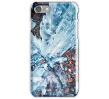 Icicles on mountain wall iPhone Case/Skin