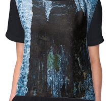 Icicles on mountain wall Chiffon Top