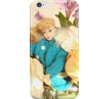 Vintage Barbie with Flowers iPhone Case/Skin