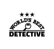 World's best detective Photographic Print