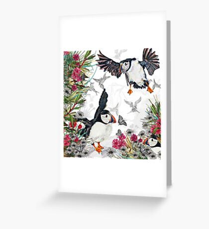 Drawing Paradise - Puffins Greeting Card