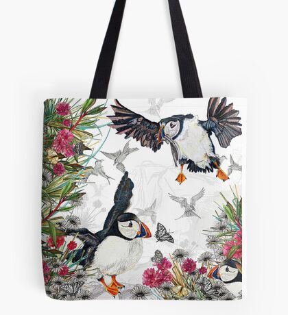 Drawing Paradise - Puffins Tote Bag