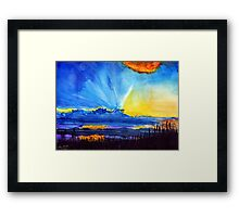 Watercolour sunset  Framed Print