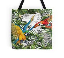 Drawing Paradise Collection - Parrots Tote Bag