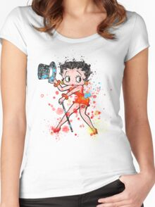 THE Lady Is In Town Women's Fitted Scoop T-Shirt