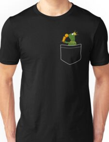 Pocket Frog Kissing Throphy Unisex T-Shirt