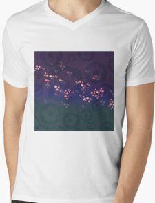 Evening Blossoms Mens V-Neck T-Shirt