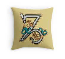 Celtic Rabbit Letter Z - New Edition Throw Pillow