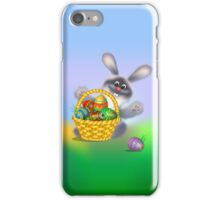 Easter Bunny with Egg Basket iPhone Case/Skin