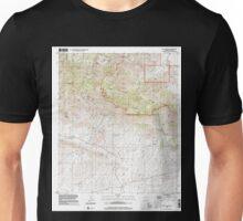 USGS TOPO Map Arizona AZ Dos Cabezas 311164 1996 24000 Unisex T-Shirt