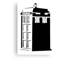 The Tardis, Police Box (Doctor Who) Canvas Print