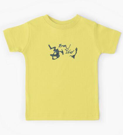 Bon Iver - Blue Screen Denim Logo Kids Tee