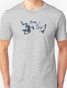 Bon Iver - Blue Screen Denim Logo Unisex T-Shirt