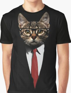 The Jacket Cat Graphic T-Shirt