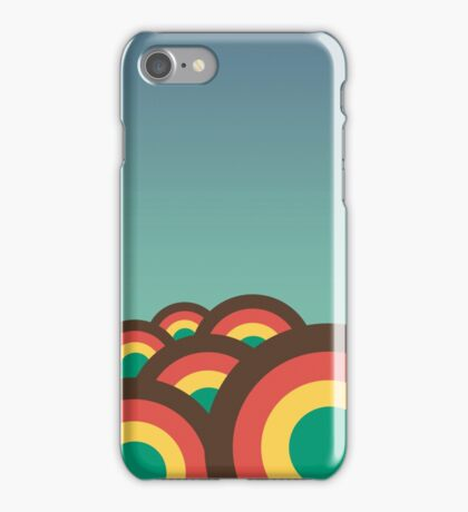 Foothills on warm blue 70´s iPhone Case/Skin