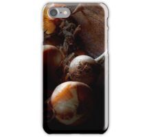 Food - Freshly pulled onions iPhone Case/Skin