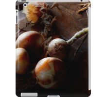 Food - Freshly pulled onions iPad Case/Skin
