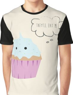 Sad cupcake Graphic T-Shirt