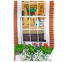 Window Box and Reflection Poster