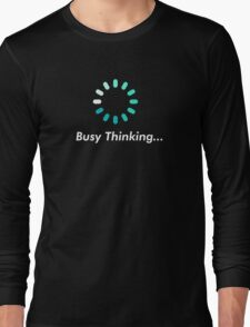 Loading bar circle - busy thinking Long Sleeve T-Shirt