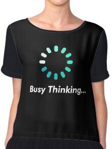 Loading bar circle - busy thinking Chiffon Top