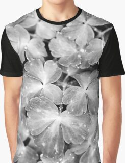 Abstract Leaves Bw Graphic T-Shirt