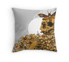 Death Head Skull Throw Pillow
