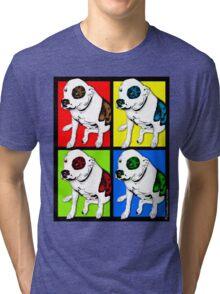 Colorful Pop Art Pit Bull Tri-blend T-Shirt