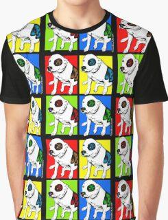 Colorful Pop Art Pit Bull Graphic T-Shirt