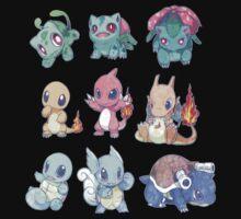 CUTE Pokemon Starters!! Kids Clothes