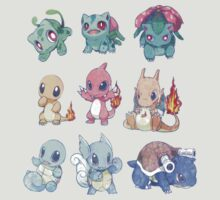 CUTE Pokemon Starters!! by jayaims