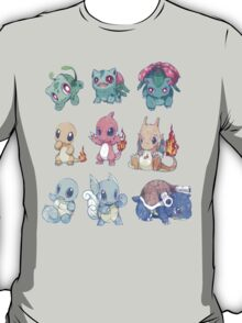 CUTE Pokemon Starters!! T-Shirt